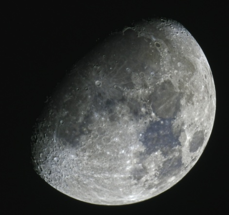 waxing Gibbous moon 76 percent visibility